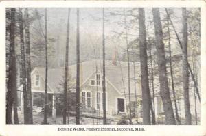 Pepperell Massachusetts Springs Bottling Works Exterior Antique Postcard K13107