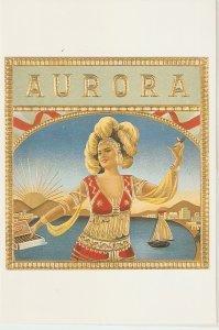 Aurora Nice modern Spanish Cigar Box Label Postcard. Continental size