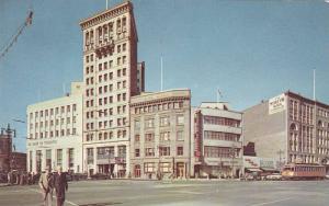Portage Ave & Main Street , Winnipeg , Manitoba , Canada , 50-60s