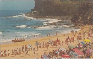 Sydney New South Wales Australia - Avalon Beach with lifeguards & swimmers 1950s