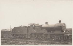 LMS Class 4-4-0 Number 579 Henry Fowler Train Antique Real Photo Postcard