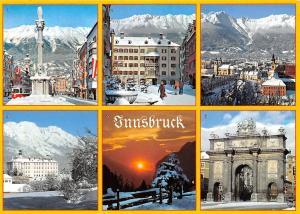 Austria Innsbruck Das Goldene Dachl Schloss Ambras Abendstimmung
