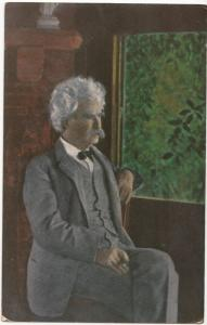 MARK TWAIN at Quarry Farm Study, Postcard