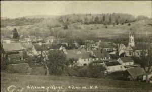 Gilsum NH Village - Birdseye View c1920 Real Photo Postcard