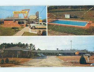 Pre-1980 OLD CARS & SAN-SU RESTAURANT & MOTEL Glennville Georgia GA ho4424