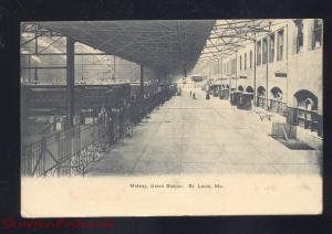 ST. LOUIS MISSOURI UNION STATION RAILROAD DEPOT INTERIOR VINTAGE POSTCARD MO.