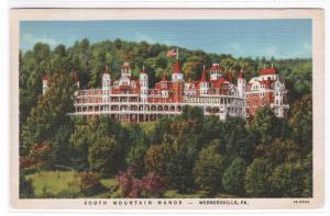 South Mountain Manor Wernersville Pennsylvania 1936 postcard
