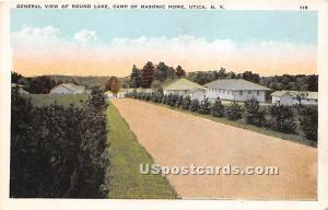 Round Lake, Masonic Home Utica NY Unused