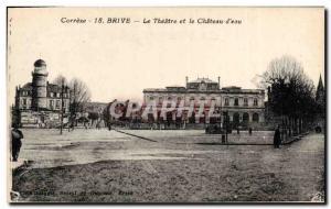 Old Postcard Chateau d & # 39eau Brive The theater and the castle d & # 39eau