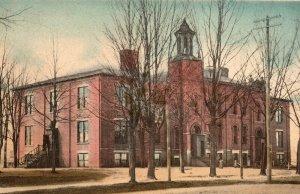 1907 Hand Colored Postcard Central School Dowagiac Michigan pc1704