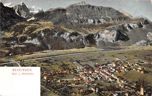 Switzerland Old Vintage Antique Post Card Meiringen Unused