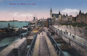 ANVERS, Belgium, PU-1923; Le Steen Et Le Port