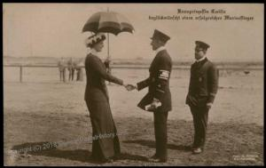 Germany WWI Aces Crown Princess Cecilie Greeting Navy Flyers  RPPC 68272