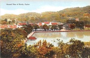 General View Kandy Ceylon, Ceylan Unused