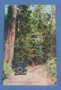 Vintage   Postcard Road Scene Vancouver Island B.C. Canada I1G