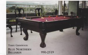 Blue Northern billiards Company , Vancouver , B.C. , Canada , 1960-80s