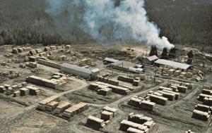 Aerial View, Les Materiaux Blanchet Inc., CTE L'ISLET, Quebec, Canada, 40-60s