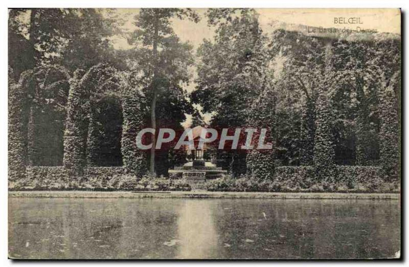 Old Postcard Beloeil Basin Des Dames