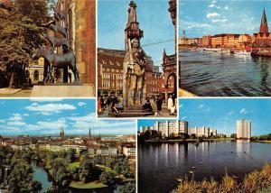 Germany Bremen Bremer Stadtmusikanten Der Roland Neue Vahr Am Wall Boats