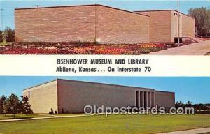 Abilene, KS, USA Postcard Eisenhower Museum & Library
