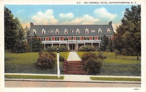 Rutherfordton North Carolina~Isothermal Hotel~Steps Up From Street~1936 Postcard