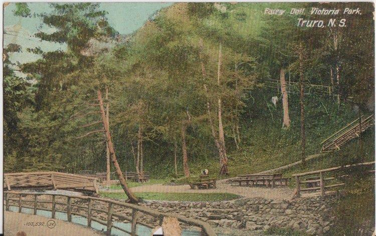 TRURO Nova Scotia - FAIRY DELL in VICTORIA PARK / 1912 view - QUAINT !