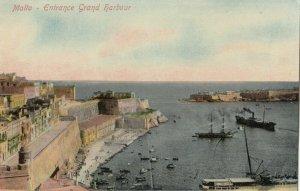 MALTA , 1900-10s ; Entrance Grand Harbor