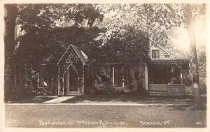Brandon Vermont Douglas Birthplace Real Photo Antique Postcard K98992
