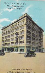 PORTLAND, Oregon; Hotel Hoyt, Hoyt Street at Sixth, 00-10s