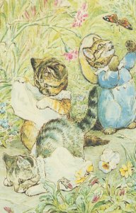 The Tale Of Tom Kitten Moppet & Mittens Cats Beatrix Potter Postcard