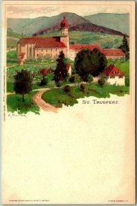 1910s Baden-Württemberg GERMANY Postcard ST. TRUDPERT Monastery Artist-Signed