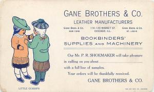 ADVERTISING   GANE BROS. & CO. Leather Manufacturers   1900s  Postcard