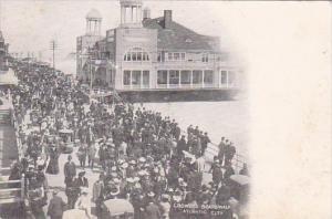 New Jersey Atlantic City Crowded Boardwalk