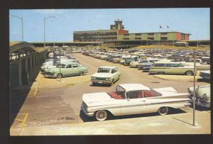 DALLAS TEXAS LOVE FIELD AIRPORT 1959 CHEVROLET CHEVY OLD CARS VINTAGE POSTCARD