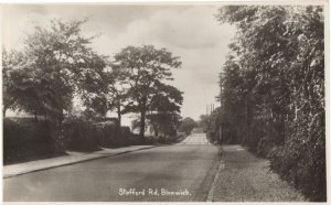 Stafford Road Bloxwich West Midlands RPC Old Postcard