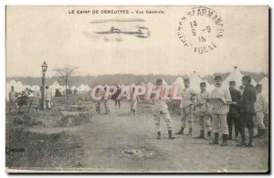 Old Postcard The Cercottes camp General view Army Plane