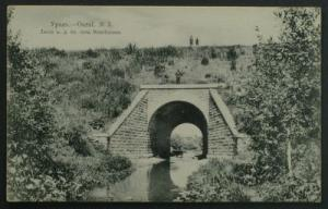 Ural Russia railroad embankment with culvert c 1910
