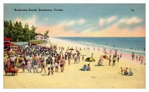 1947 Bradenton Beach, Bradenton, FL Postcard *5N17
