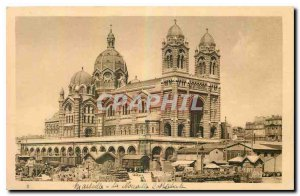 Old Postcard Les Petits Tableaux de Provence Marseille New Cathedral built in...