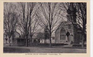 Lower Main Street Cambridge Vermont