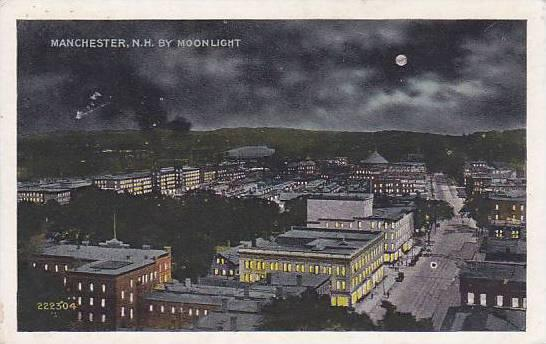 New Hampshire Manchester By Moonlight