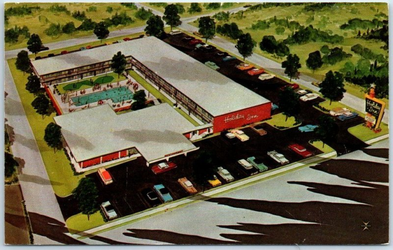 Pikesville, Maryland Postcard HOLIDAY INN NORTHWEST Motel Artist's View c1960s