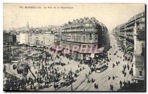 Postcard Old Marseille La Rue de la Republique