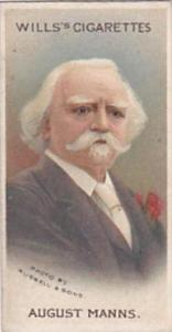 Wills Vintage Cigarette Card Musical Celebrities 1912 No 20 August Manns