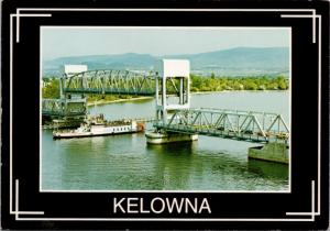 Fintry Queen Paddle Wheeler Kelowna BC British Columbia Bridge Postcard D38