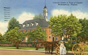 VA - Williamsburg, Colonial Coach in fron of Capitol