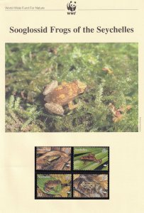 Sooglossid Frogs Of The Seychelles WWF Stamps and Set Of 4 First Day Cover Bu...