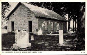 Ohio Upper Sandusky Old Mission Church 1935