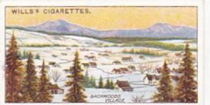 Wills Cigarette Card Overseas Dominions Canada No 28 A Backwoods Village