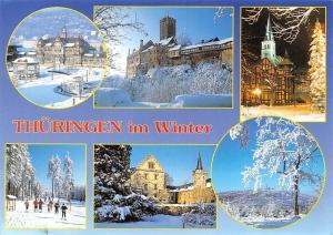 Thueringen im Winter, Das Gradierwerk Bad Salzungen Am Rennsteig Inselsberg